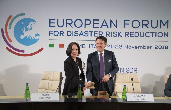 Conte al Forum europeo sulla riduzione del rischio da disastri