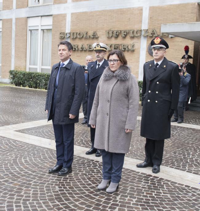 Il Presidente Conte e il Ministro Trenta alla Scuola Ufficiali dei Carabinieri