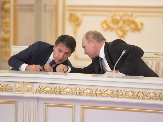 Il Presidente Conte con il Presidente Putin al Cremlino