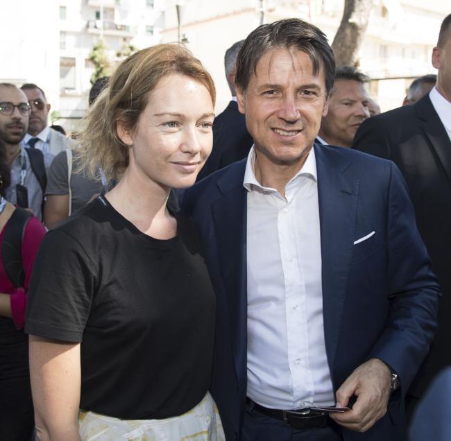 Il Presidente Conte a DigithOn con l'attrice Cristiana Capotondi