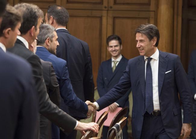 Incontro del Presidente Conte con una delegazione Anci