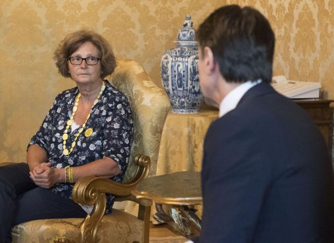 Il Presidente Conte con la madre di Giulio Regeni a Palazzo Chigi