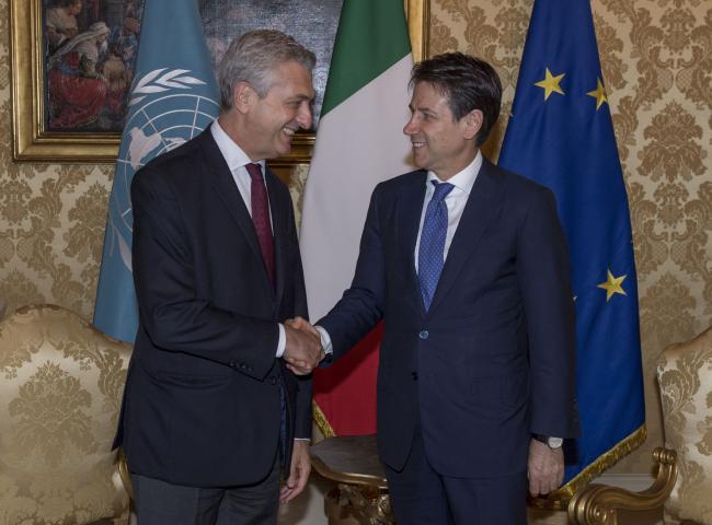 Il Presidente Conte riceve Filippo Grandi