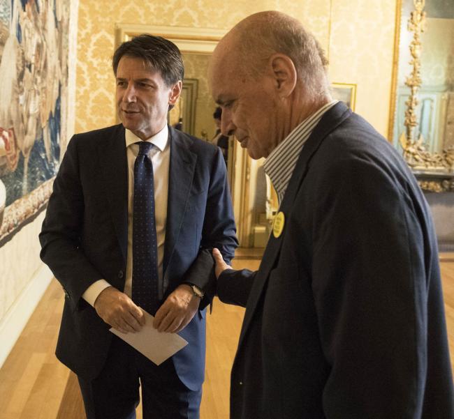 Il Presidente Conte con il padre di Giulio Regeni a Palazzo Chigi