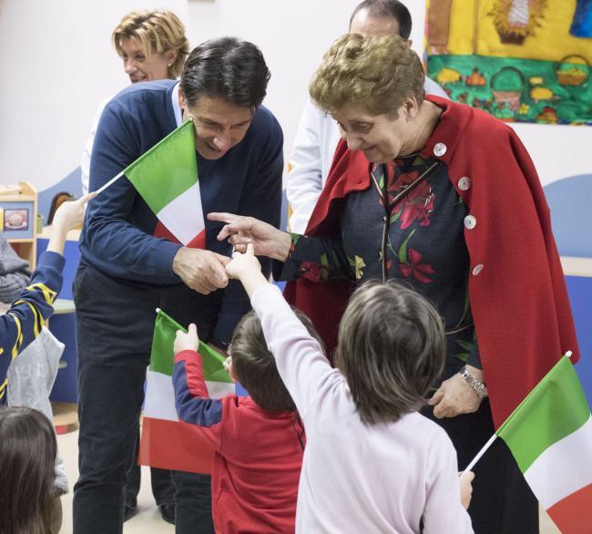 """Il Presidente Conte in visita al """"Bambino Gesù"""""""