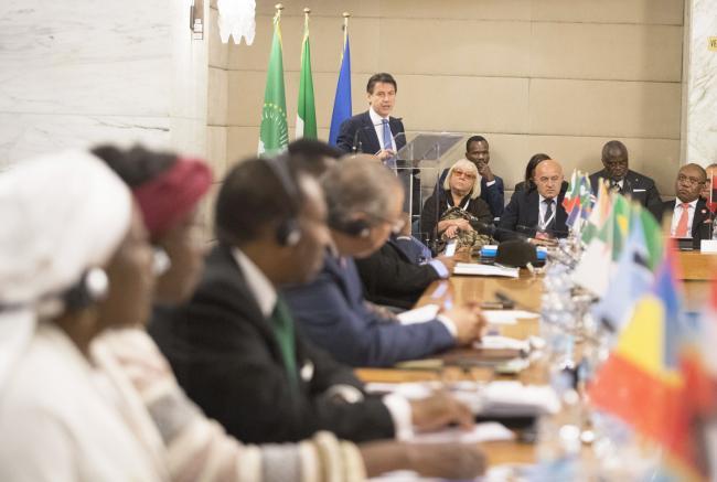 Il Presidente Conte interviene alla Conferenza Ministeriale Italia – Africa