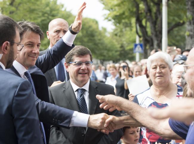 Il Presidente Conte a San Severino Marche