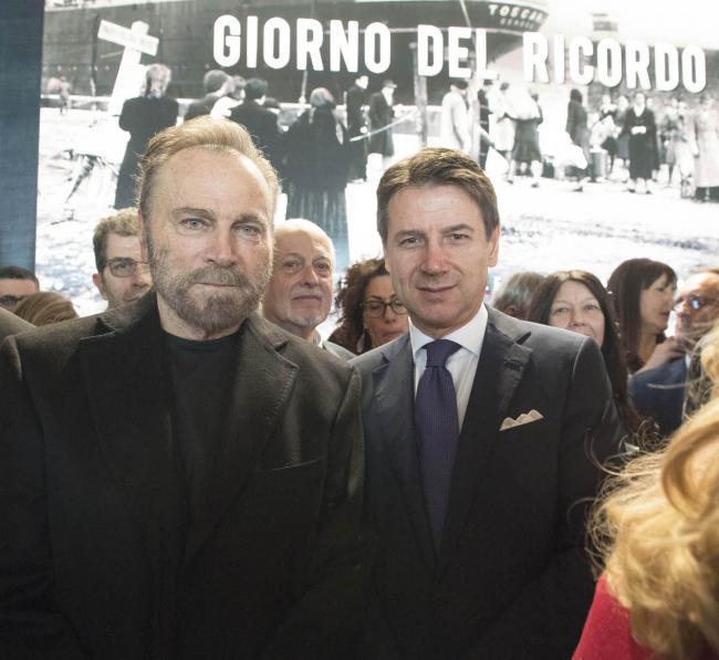 Quirinale, il Presidente Conte con Franco Nero alla celebrazione del Giorno del Ricordo