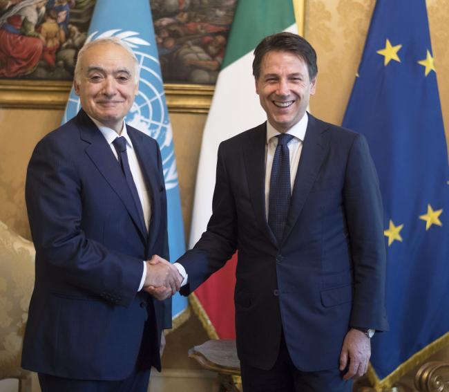 Il Presidente Conte con Ghassan Salamé a Palazzo Chigi
