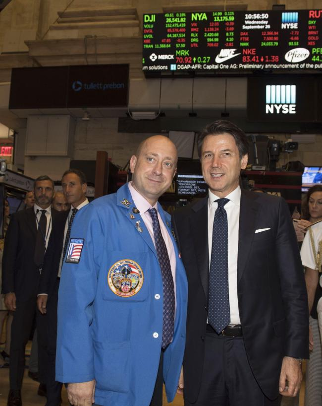 Il Presidente Conte al New York Stock Exchange