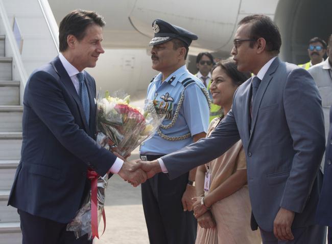 Il Presidente Conte in India