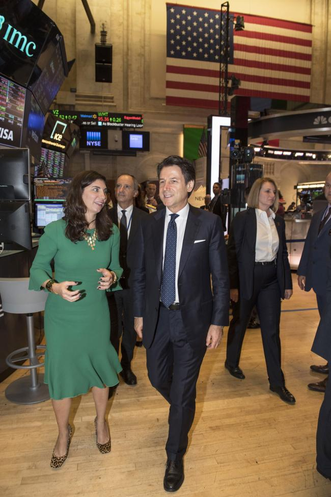 Il Presidente Conte con la Presidente del New York Stock Exchange