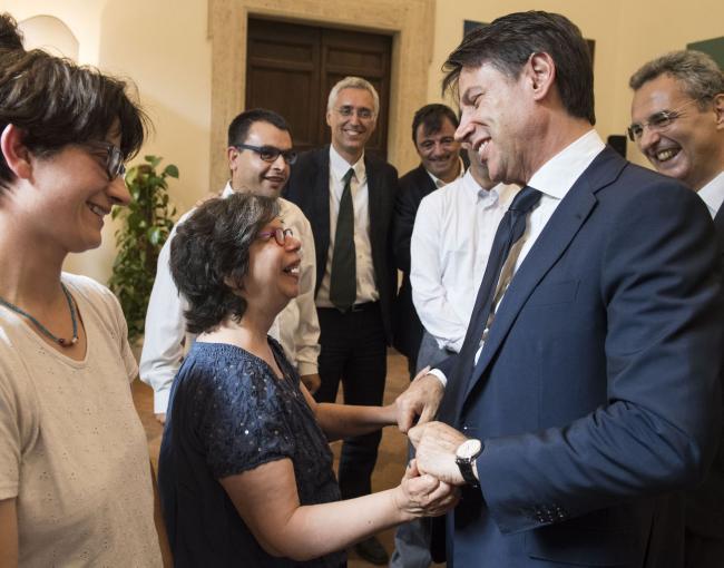 Visita del Presidente Conte alla Comunità di Sant'Egidio