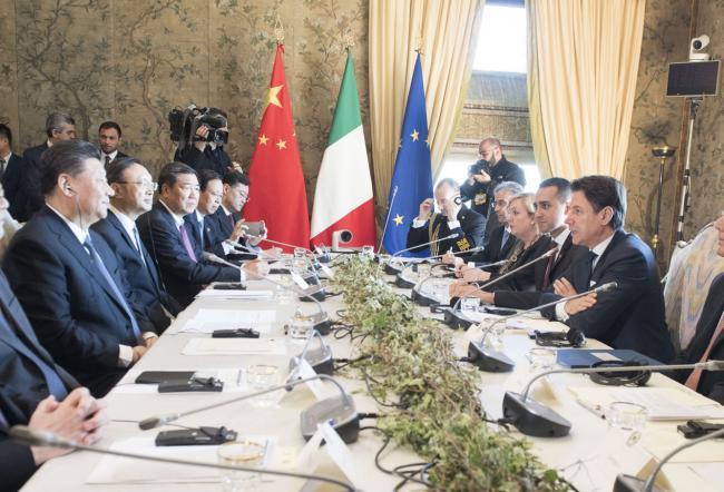 i colloqui ufficiali tra il Presidente Conte e il Presidente Xi Jinping