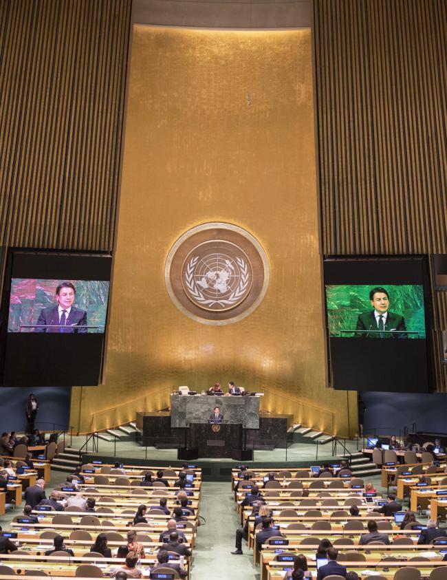 Il Presidente Conte interviene all'Assemblea Generale ONU