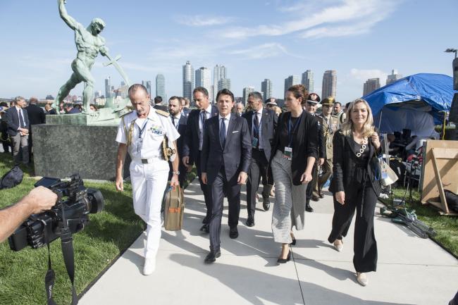 Il Presidente Conte al Rose Garden del Palazzo delle Nazioni Unite