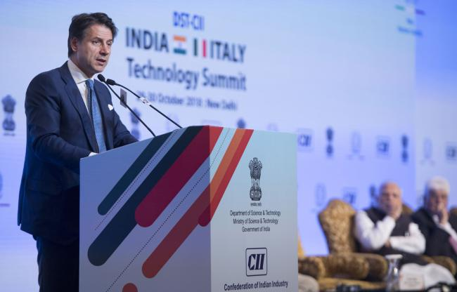 Il Presidente Conte interviene all'India-Italy Technology Summit