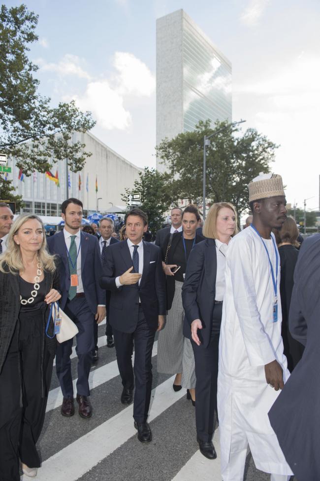 Il Presidente Conte al Palazzo delle Nazioni Unite