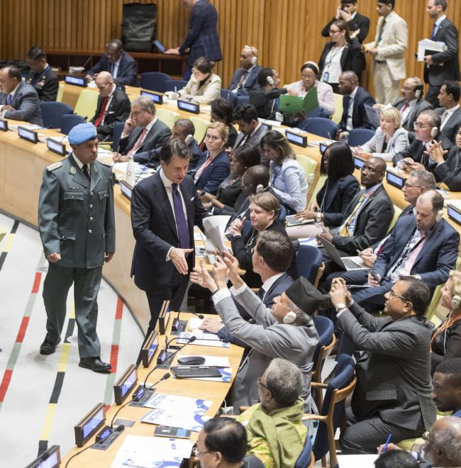 "Il Presidente Conte all'evento di Alto Livello ""Action for Peacekeeping"""