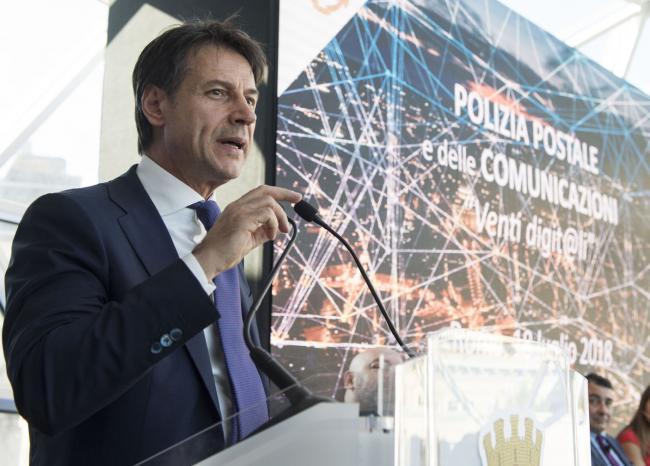 Il Presidente Conte interviene alla celebrazione dei 20 anni della Polizia postale e delle comunicazioni