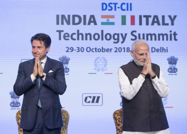"""Il Presidente Conte partecipa all'India-Italy Technology Summit"""""""
