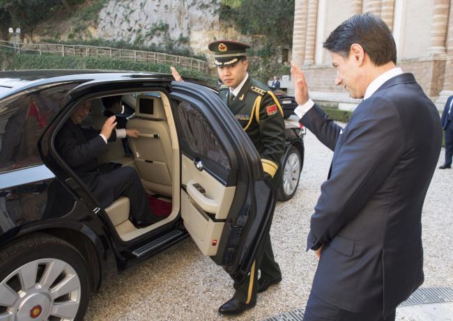 Il Presidente Xi Jinping lascia Villa Madama