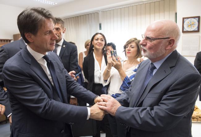 """Palermo, il Presidente Conte all'istituto """"Padre Pino Puglisi"""""""