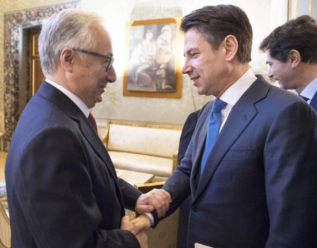 Il Presidente Conte con il nuovo Presidente del Consiglio di Stato Patroni Griffi