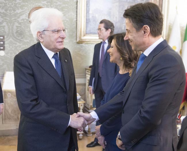 Il Presidente Conte con il Presidente Mattarella all'inaugurazione dell'Anno Giudiziario del Consiglio di Stato