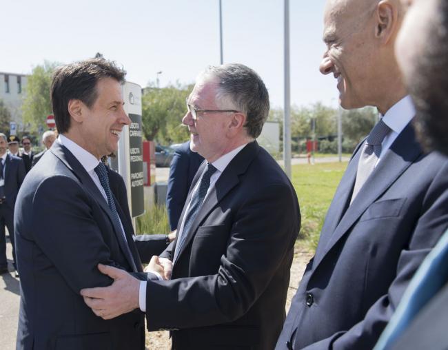 Il Presidente Conte con il Presidente del Cnr Inguscio