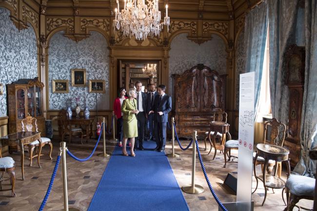 Il Presidente Conte visita il Castello Miramare di Trieste