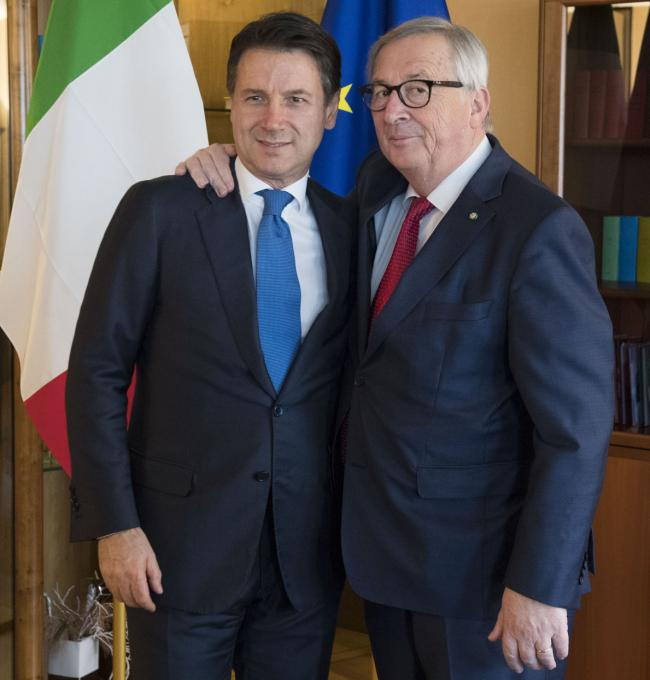 Conte incontra il Presidente della Commissione europea Juncker