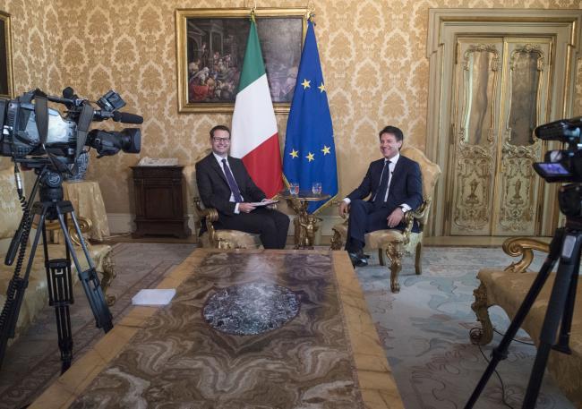 Intervista del Presidente Conte alla TV di Stato della Repubblica Ceca