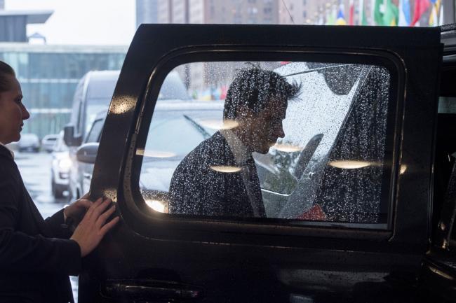 Il Presidente Conte lascia il Palazzo delle Nazioni Unite