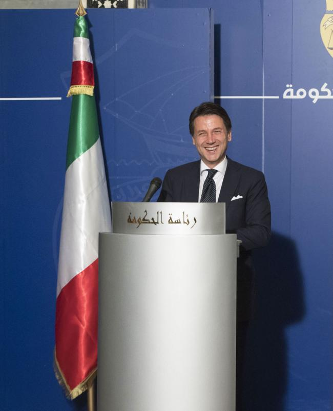 Il Presidente Conte in conferenza stampa