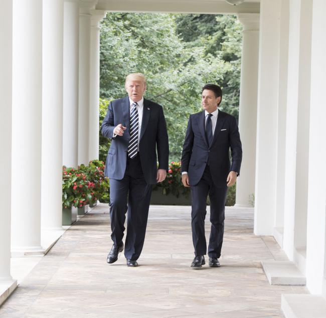Il Presidente Conte con il Presidente Trump alla Casa Bianca