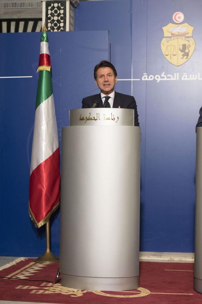 Il Presidente Conte in conferenza stampa