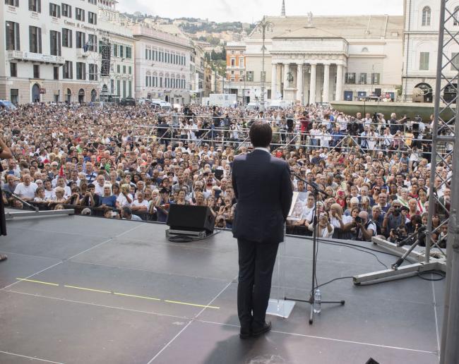 Il Presidente Conte alla cerimonia in ricordo delle vittime del crollo del Ponte Morandi