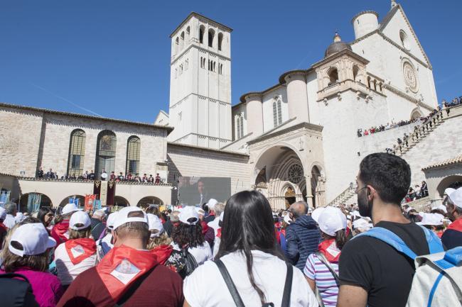 Il Presidente del Consiglio Conte ad Assisi