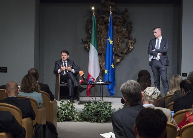 Washington, il Presidente Conte incontra i giornalisti italiani in Ambasciata