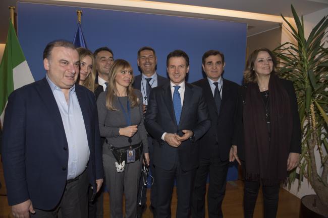 Il Presidente Conte incontra i deputati italiani