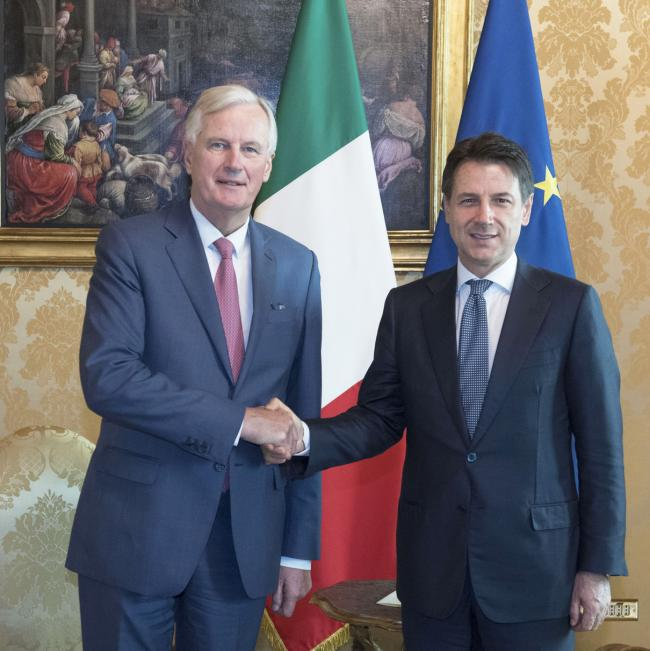 Conte incontra Barnier