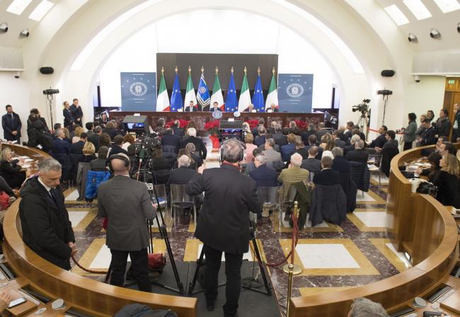 Conferenza stampa di fine anno del Presidente del Consiglio Conte