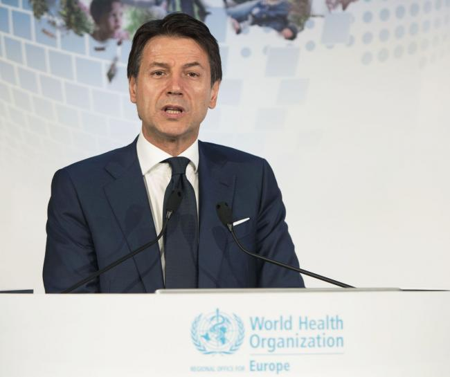 Il Presidente Conte al 68° Comitato Regionale dell'OMS Europa