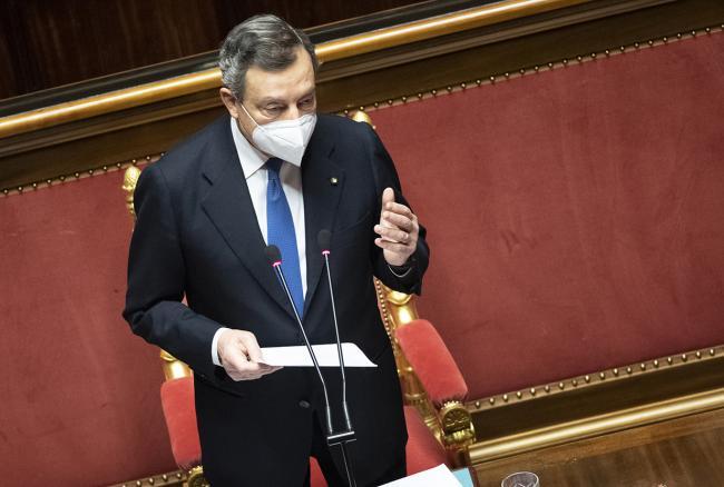 Consiglio europeo, le Comunicazioni del Presidente Draghi al Senato