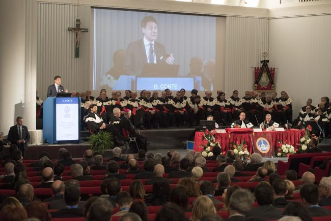 Conte all'Università Cattolica del Sacro Cuore