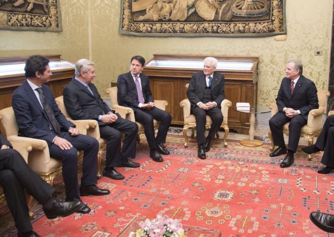 Il Presidente Conte a Palazzo Koch