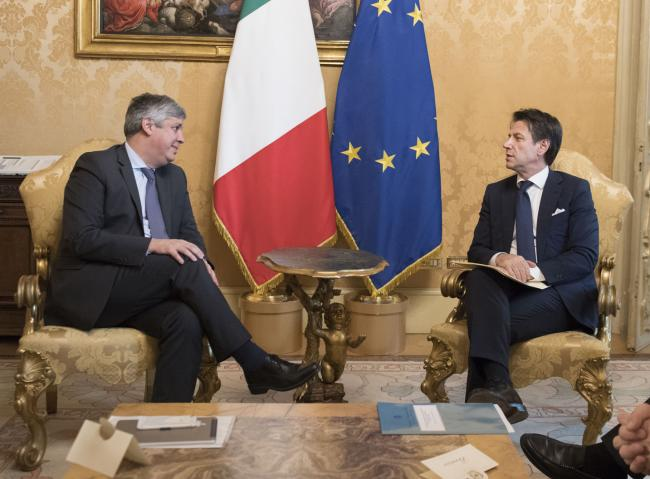 Incontro Conte - Centeno a Palazzo Chigi