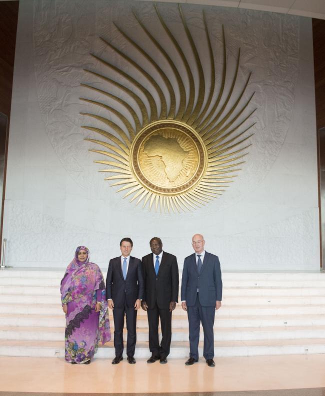 Il Presidente Conte in Etiopia nella sede dell'Unione Africana