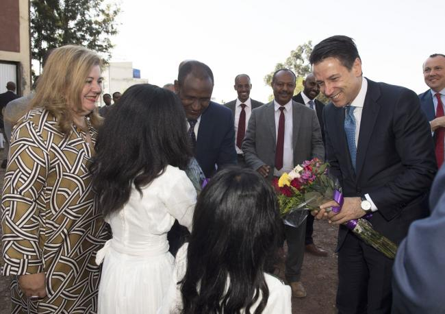Il Presidente Conte ai laboratori della Cooperativa Ethio-International Footwear Cluster